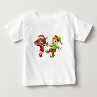 Dancing Christmas Elves Baby T-Shirt