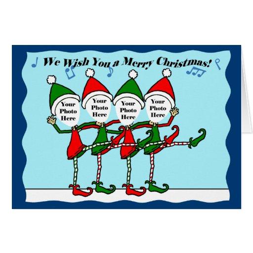 Dancing Christmas Elves Card