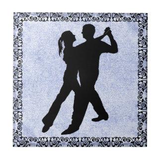 DANCING COUPLE 3 TILE... CERAMIC TILE