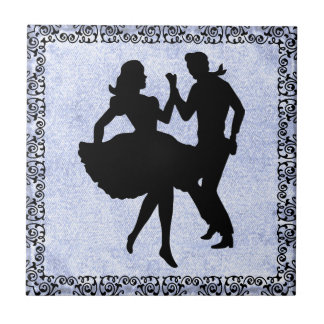 DANCING COUPLE 4 TILE... TILE