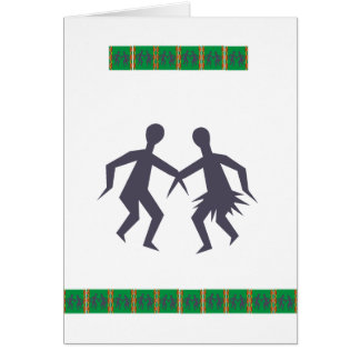 Dancing Couple from Africa Card