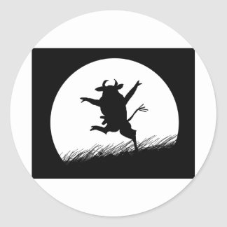 Dancing Cow Classic Round Sticker