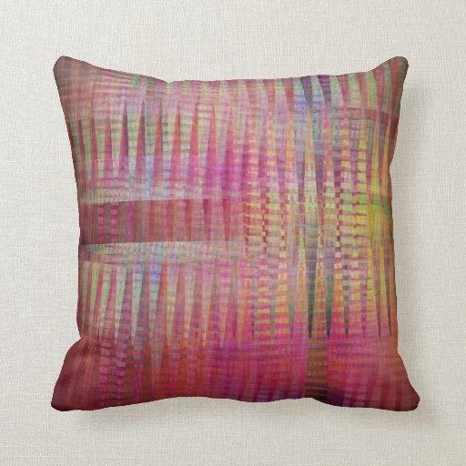 Dancing Crisscross Colors Throw Pillow