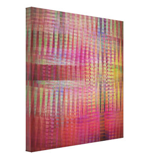 Dancing Crisscross Patterns Colors Canvas Prints