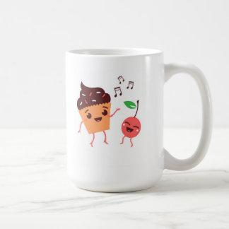 Dancing Cupcake And Cherry Mug