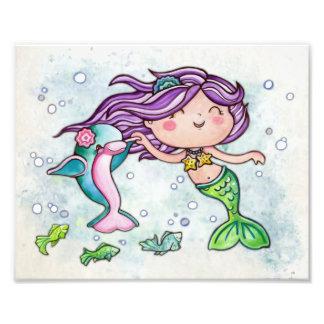 Dancing Cutie Little Mermaid Photo Print
