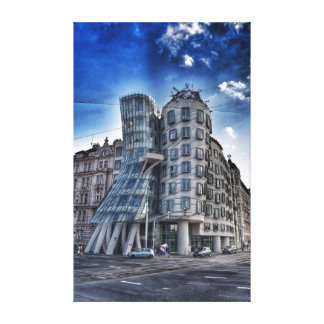 Dancing, Dancing House Canvas Print