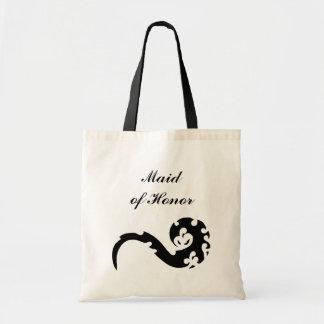 Dancing Dragon Maid of Honor Wedding Tote Bag