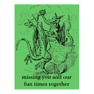 Dancing Dragons postcard
