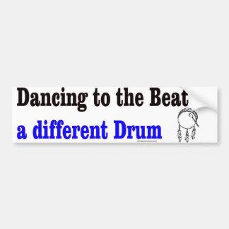 dancing drum bumper bumper sticker