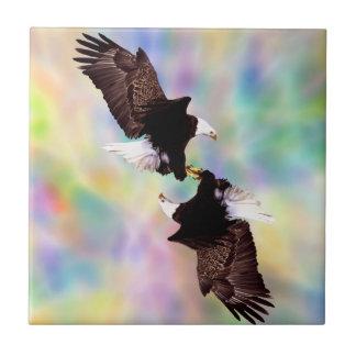 Dancing eagles tile