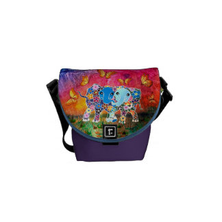 Dancing Elephants Courier Bag