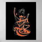 dancing fairy girl poster