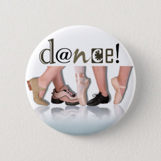 """Dancing Feet"" - Choreographer, Dancer, Instructor 6 Cm Round Badge"