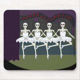 Dancing Female Skeletons Mouse Pads