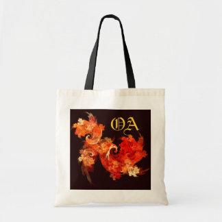 Dancing Firebirds Abstract Art Monogram Bag