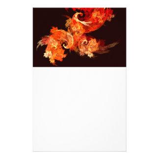 Dancing Firebirds Abstract Art Stationery