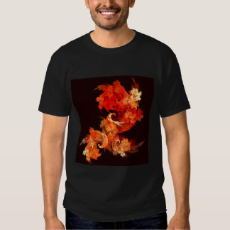Dancing Firebirds Abstract Art T Shirt
