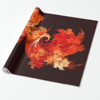 Dancing Firebirds Abstract Art Wrapping Paper
