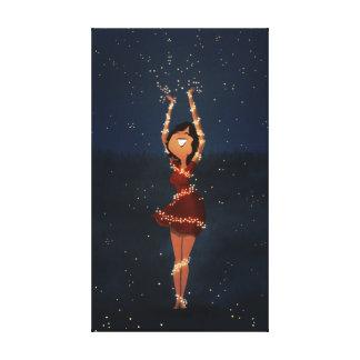 """Dancing fireflies art """"Thank you"""" Medium Gallery Wrap Canvas"""