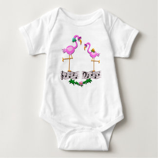 Dancing Flamingos Baby Bodysuit