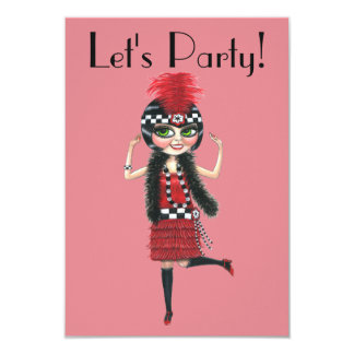 Dancing Flapper Girl Roaring Twenties Card