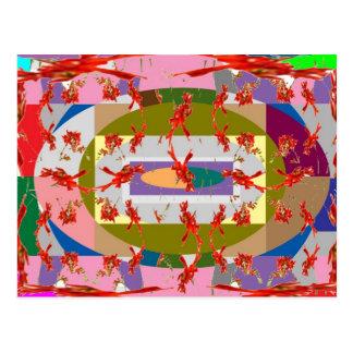 Dancing Flowers - Dance Floor Postcard