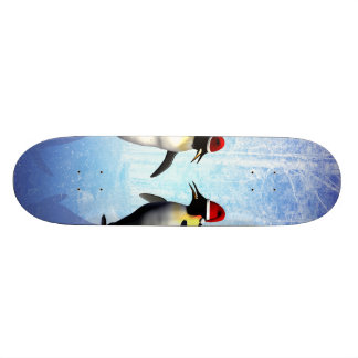 Dancing for christmas, funny penguine skate board decks