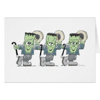 Dancing Frankies greeting card