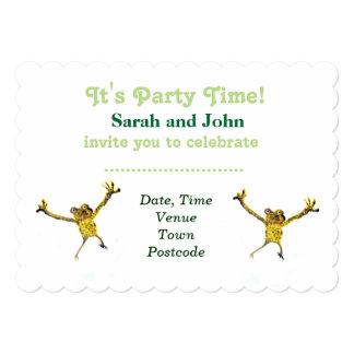 Dancing Frog Animal Art Card