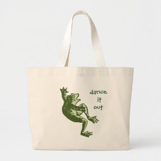 """Dancing Frog """"Dance it Out"""" Products Large Tote Bag"""