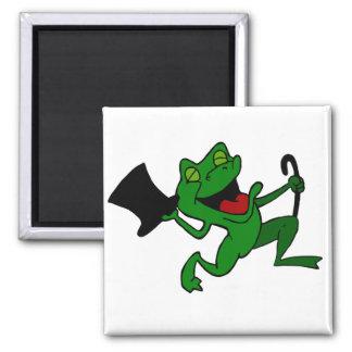 Dancing Frog Square Magnet