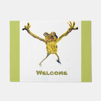 Dancing Frog Welcoming Doormat
