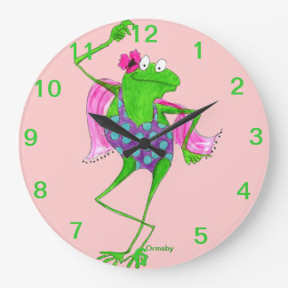 Dancing Froggy Wall Clock