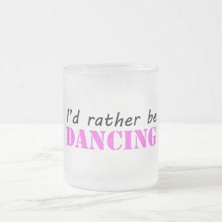 Dancing Frosted Glass Coffee Mug
