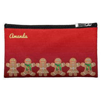 Dancing Gingerbread Cookies Cosmetic Bags