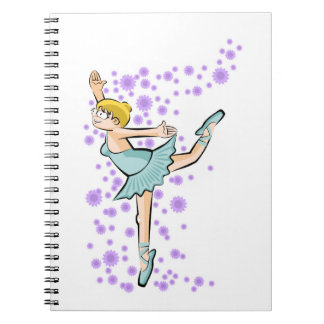 Dancing girl of Ballet dances with glamor Notebook