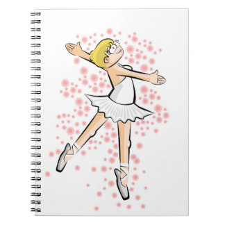 Dancing girl of Ballet dancing amusingly Notebook
