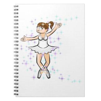 Dancing girl of Ballet dancing amusingly Spiral Notebook