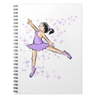 Dancing girl of Ballet dancing dressed lilac Notebooks