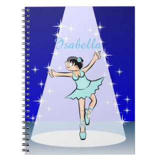 Dancing girl of Ballet dancing gracefully Spiral Notebook