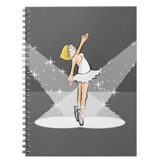 Dancing girl of Ballet dancing under the lights Notebooks