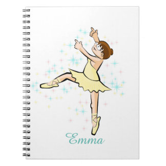 Dancing girl of Ballet in end standing up Spiral Notebook