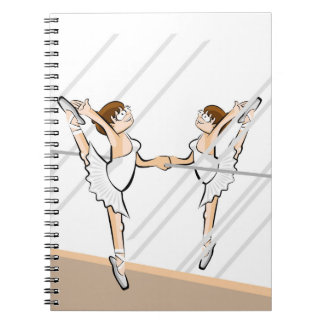 Dancing girl of Ballet in front of the mirror Notebooks