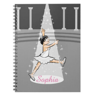 Dancing girl of Ballet in the one of the theater Notebook
