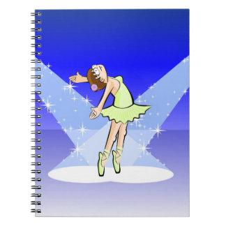Dancing girl of Ballet under the light centers Notebooks