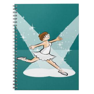 Dancing girl of Ballet under the reflectors Spiral Notebook