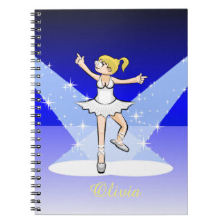 Dancing girl of illuminated Ballet dancing Notebooks
