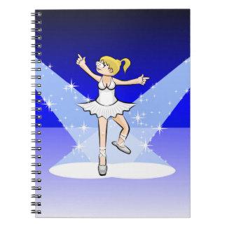 Dancing girl of illuminated Ballet dancing Notebooks