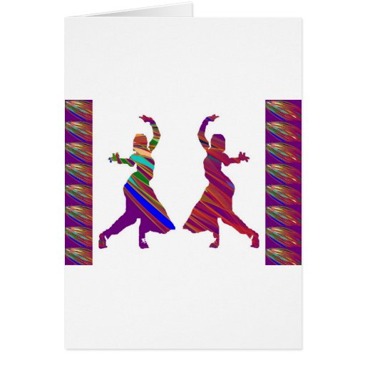 DANCING Girls :  Indian Bollywood Style Dance Greeting Card